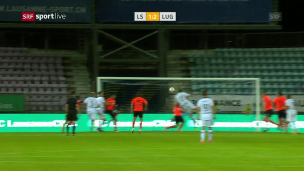 Video «Lugano entführt drei Punkte aus Lausanne» abspielen
