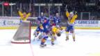 Video «NLA: Playoff-Viertelfinal ZSC-Davos, Spiel 1» abspielen