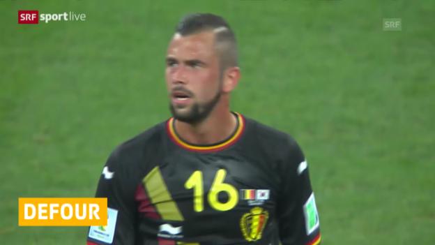 Video «FIFA WM 2014: Defour 1 Spiel gesperrt» abspielen