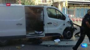 Video «Lieferwagen rast in Barcelona in Menschen» abspielen