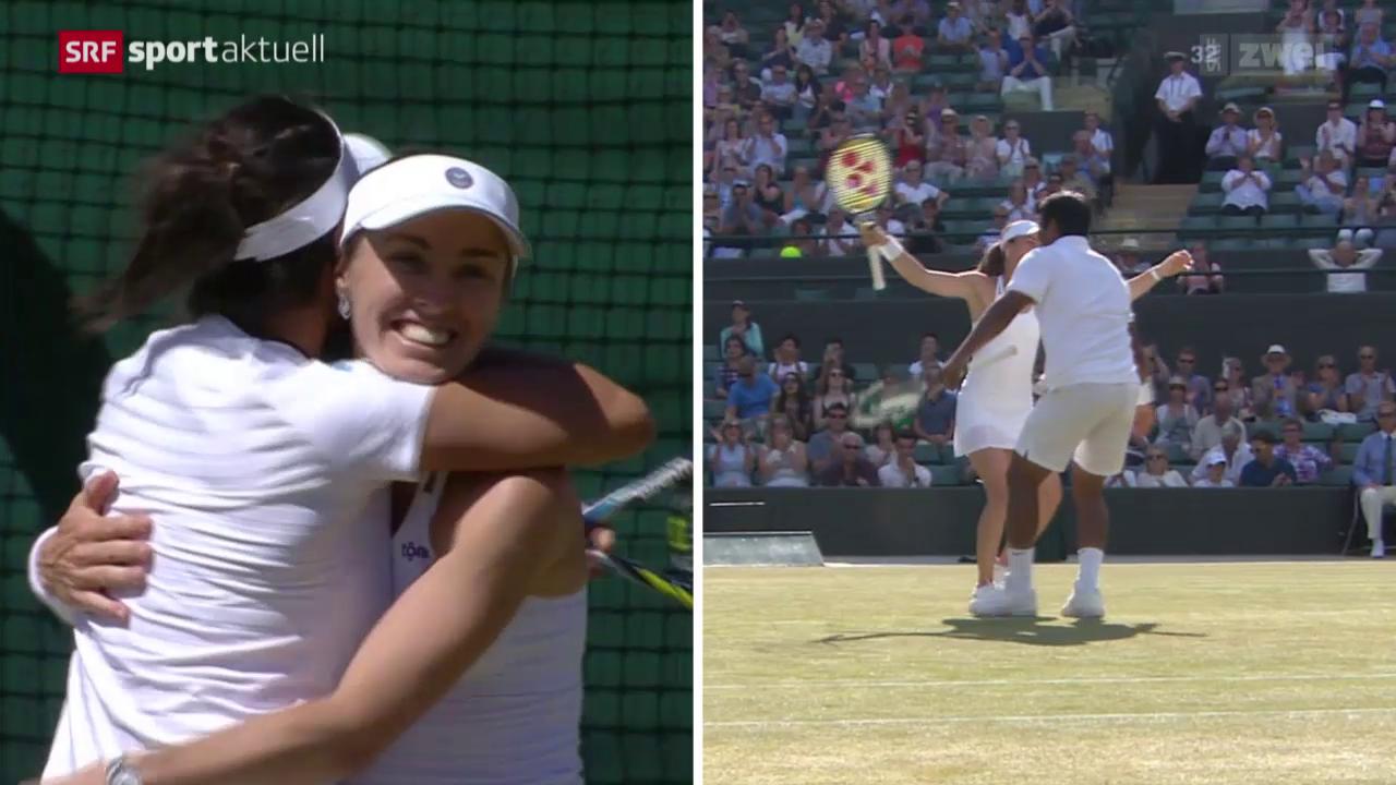 Tennis: Wimbledon, Doopel-Halbfinal mit Martina Hingis