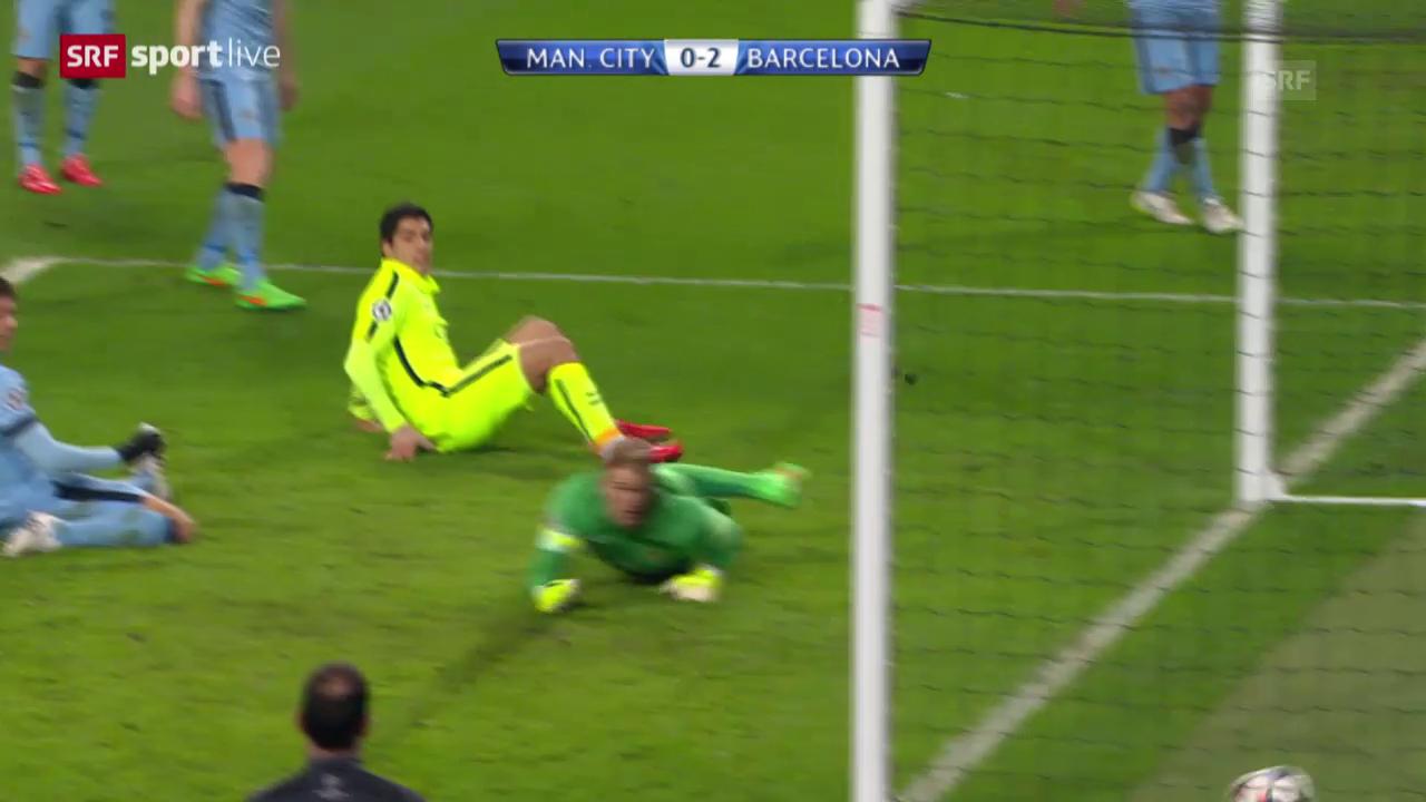 Fussball: Champions League, Achtelfinal, ManCity - Barcelona