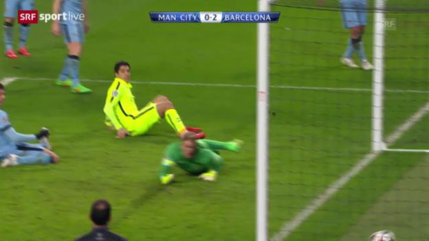 Video «Fussball: Champions League, Achtelfinal, ManCity - Barcelona» abspielen