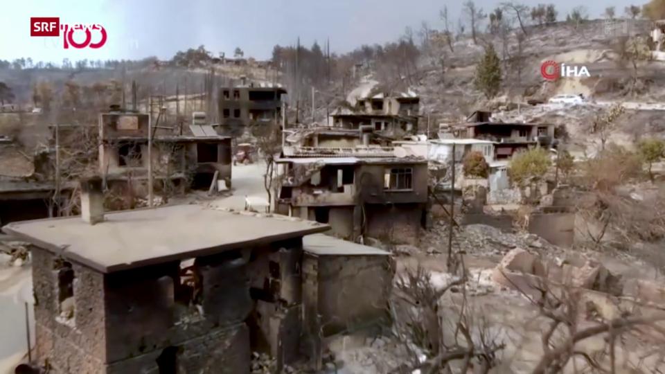 Riesige Brandschäden im Südwesten der Türkei