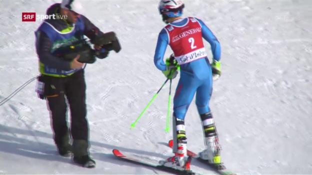 Video «Kristoffersens Siegesfahrt in Val d'Isère» abspielen