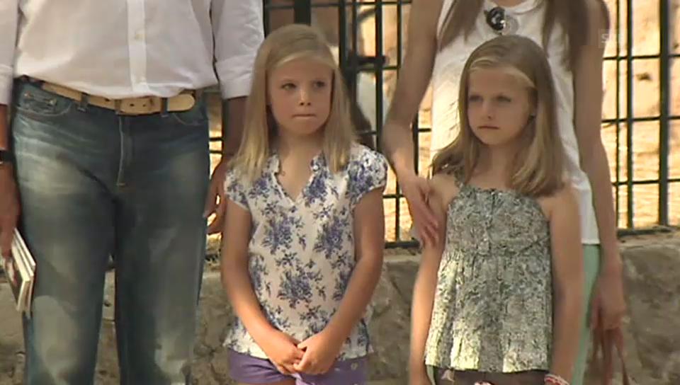 Felipe und Letizia mit ihren Töchtern Leonor und Sofía