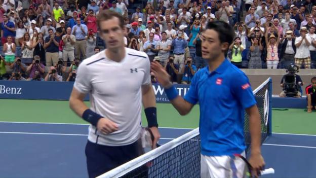 Video «Nishikori wirft Murray im Viertelfinal raus» abspielen