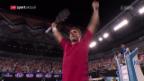 Video «Wawrinka zieht gegen Klizan den Kopf aus der Schlinge» abspielen