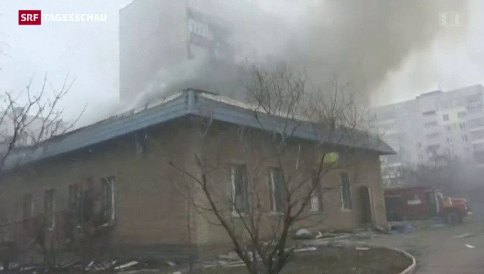 Raketenangriff auf Mariupol