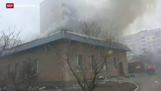 Video «Raketenangriff auf Mariupol» abspielen