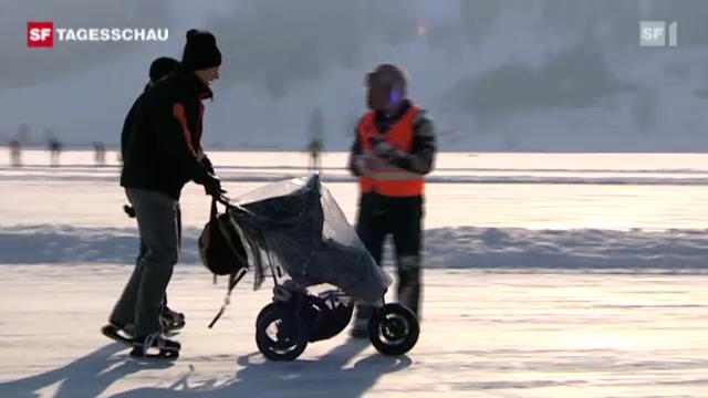 Februar 2012: Winterfreuden auf zugefrorenen Seen.