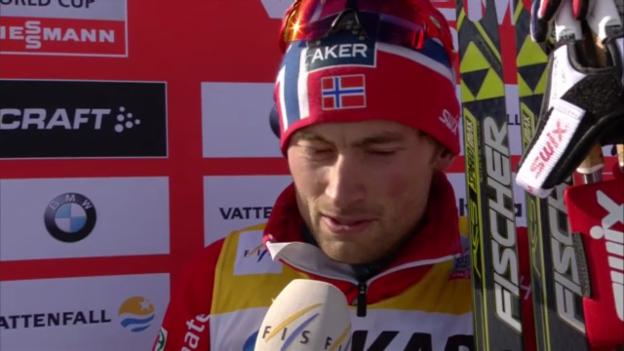 Video «Siegerinterview Petter Northug (englisch)» abspielen