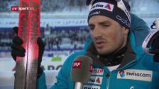 Link öffnet eine Lightbox. Video Baumann: «Es war eines meiner besten Skiathlon-Rennen» abspielen