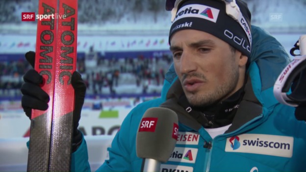 Video «Baumann: «Es war eines meiner besten Skiathlon-Rennen»» abspielen