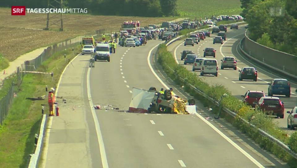 Weniger Strassenverkehrsunfälle in der Schweiz