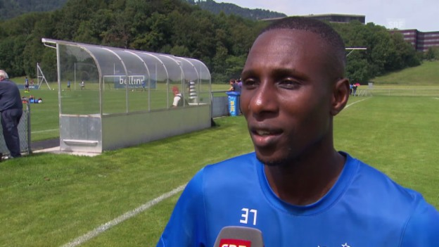 Video «Fussball: Interview mit Gilles Yapi vor Basel-Zürich» abspielen