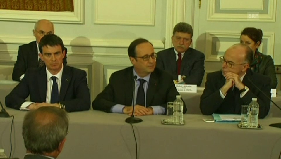 Hollande zum Umgang mit dem Terrorismus (franz. Originalton)