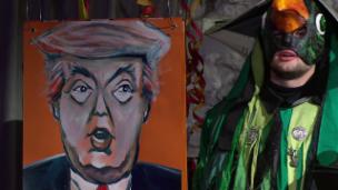 Video «Basler Fasnacht 2017: Verse über Donald Trump» abspielen