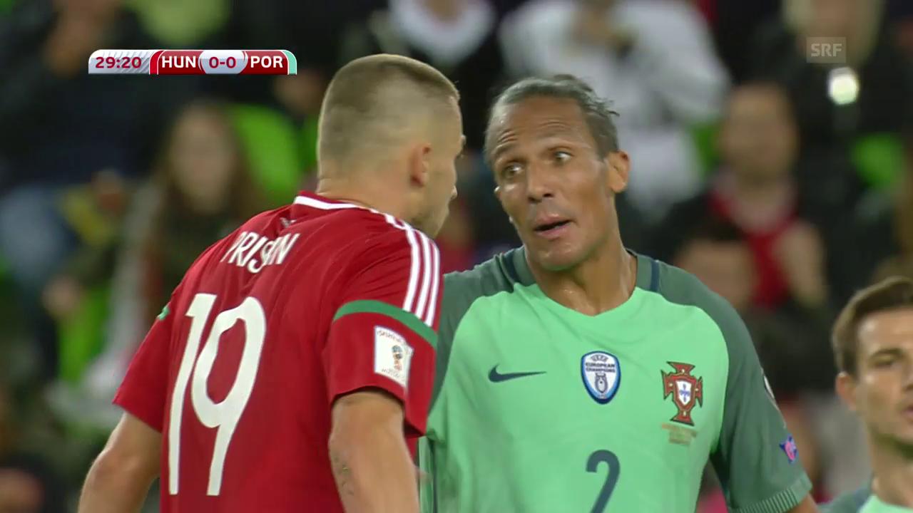Portugal müht sich in Ungarn zum 1:0