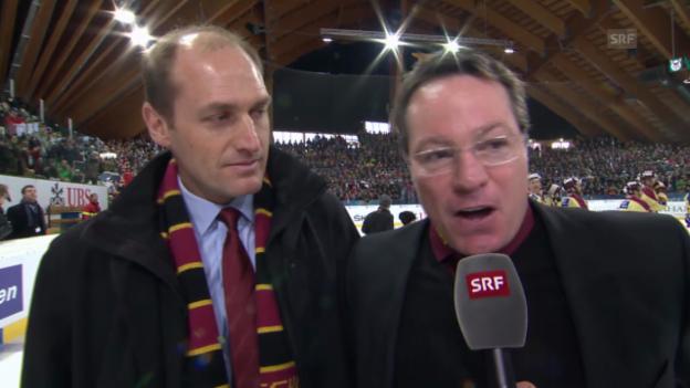 Video «Eishockey, Spengler Cup: Genfer Reaktionen nach dem Final («sportlive», 31.12.13)» abspielen