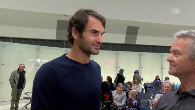 Video «Federer: «Habe gehört, alles sei noch besser geworden»» abspielen