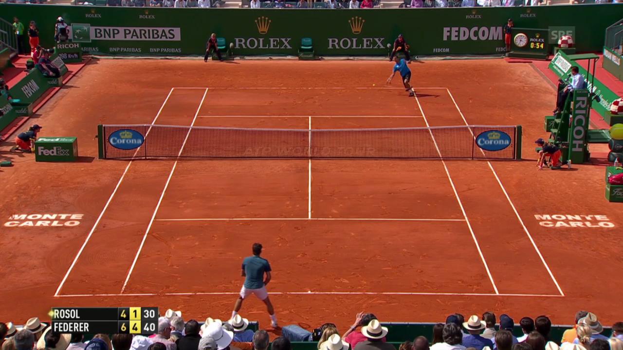 Federer - Rosol: Die wichtigsten Punkte