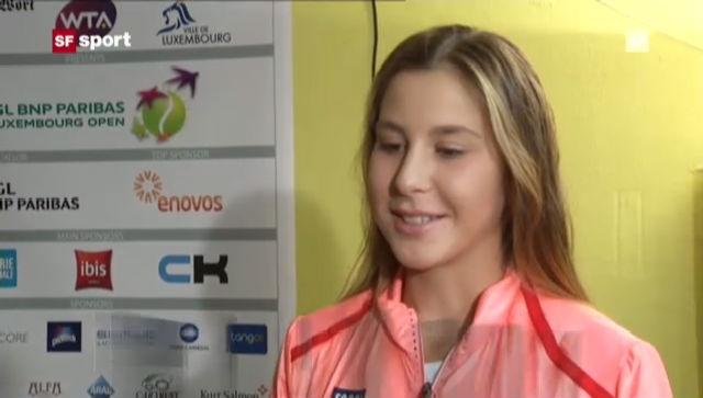 Tennis: Bencics Premiere auf der WTA-Tour