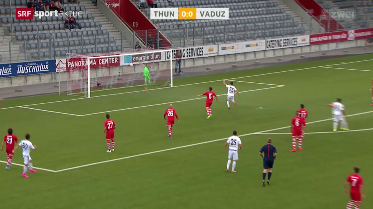 Fussball: EL, Thun-Vaduz