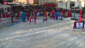 Video «Skipiste auf der Piazza Manzoni» abspielen