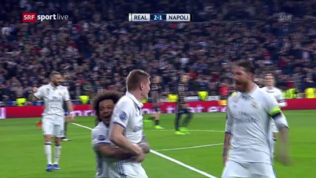 Video «Real Madrid weist Napoli in die Schranken» abspielen