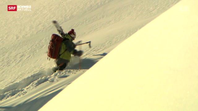 Drei Spuren im Schnee - die Königsetappe