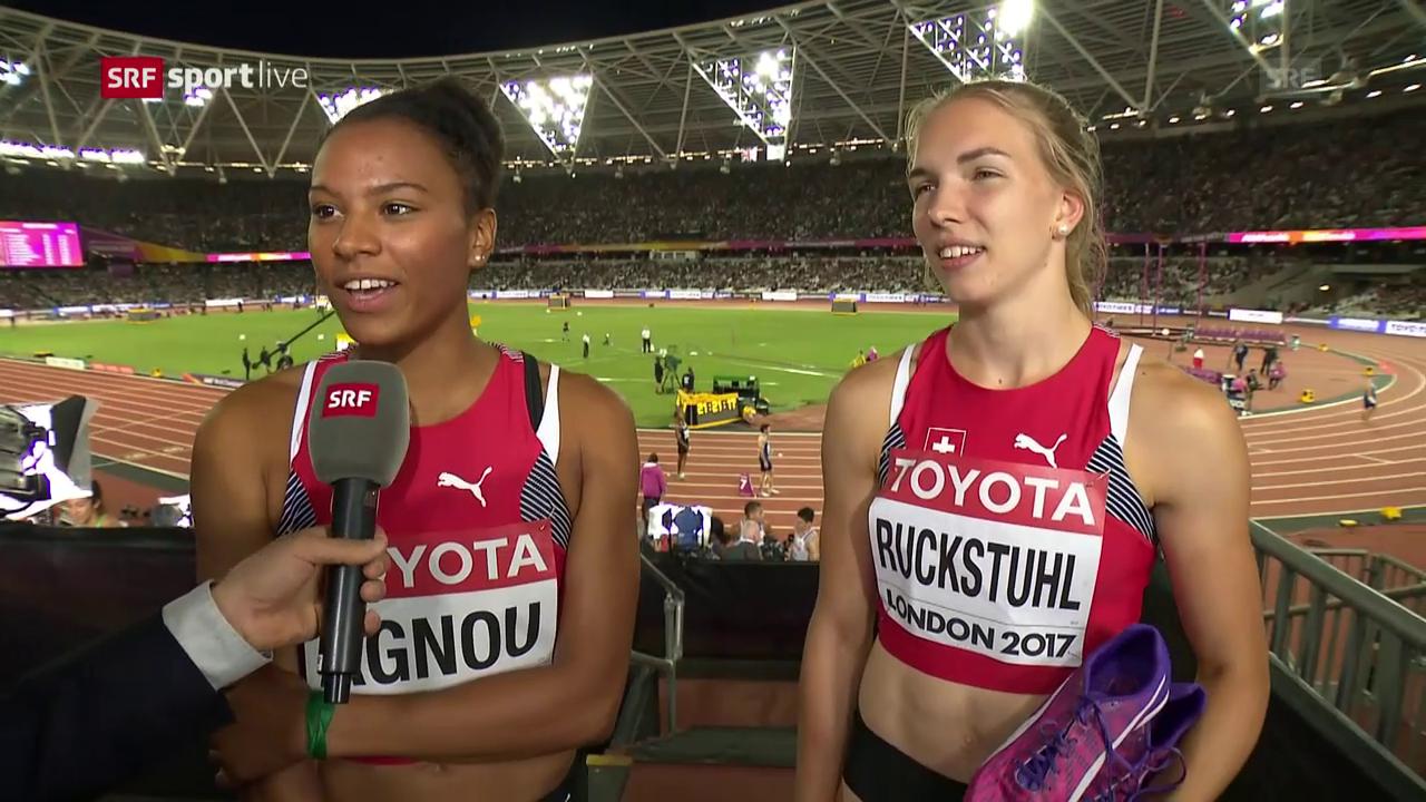 Die Siebenkämpferinnen Ruckstuhl und Agnou im Interview