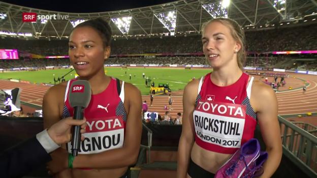 Video «Die Siebenkämpferinnen Ruckstuhl und Agnou im Interview» abspielen