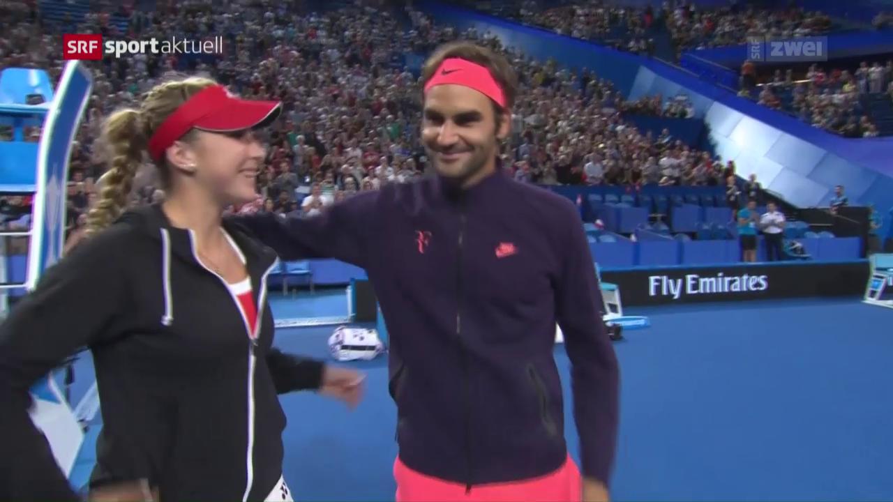 Bencic/Federer verpassen Final-Einzug