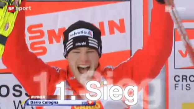 Video «Colognas dritter Erfolg an der Tour de Ski» abspielen