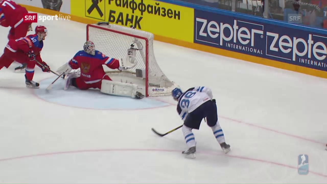 WM-Halbfinal Finnland - Russland: Die Live-Highlights