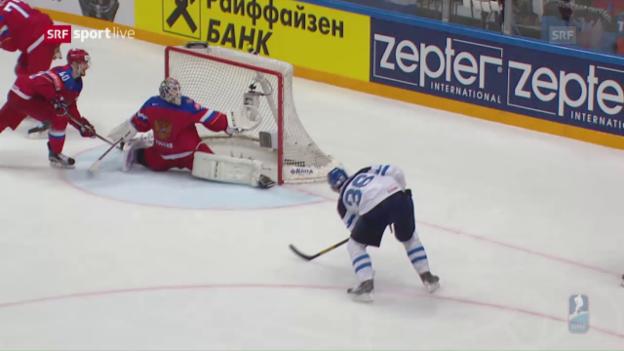 Video «WM-Halbfinal Finnland - Russland: Die Live-Highlights» abspielen