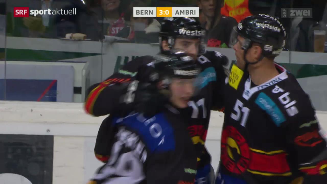 Eishockey: NLA, SC Bern - Ambri-Piotta