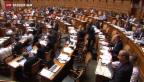 Video «Nationalrat debattiert über Sparmassnahmen» abspielen