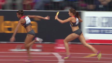 Video «Leichtathletik-EM: Wechselfehler der Deutschen» abspielen