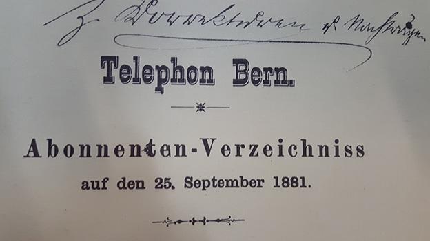 Das erste Berner Telefonbuch