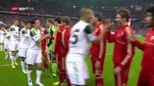Video «Highlights Pokal-Halbfinal Bayern - Wolfsburg» abspielen