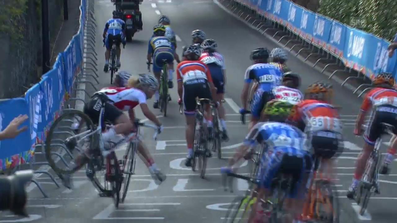 Jolanda Neffs Crash im Strassenrennen an der Rad-WM