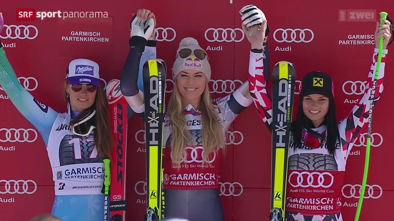 Ski: Abfahrt Frauen in Garmisch