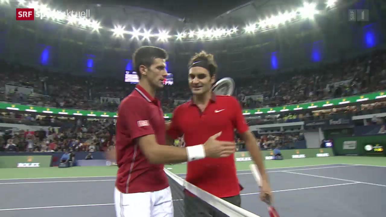Tennis: Federer - Djokovic in Schanghai