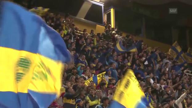 Video «Fussball: Empfang von Tevez in Buenos Aires» abspielen