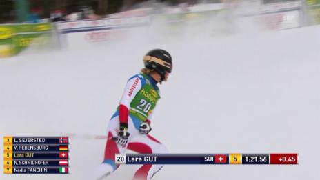 Video «Ski alpin: Super-G Frauen Lake Louise, Fahrt Lara Gut» abspielen