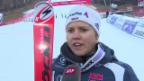 Video «Viktoria Rebensburg nach dem Riesenslalom in Maribor: «Hätte es nicht gedacht, als ich ins Ziel gekommen bin»» abspielen