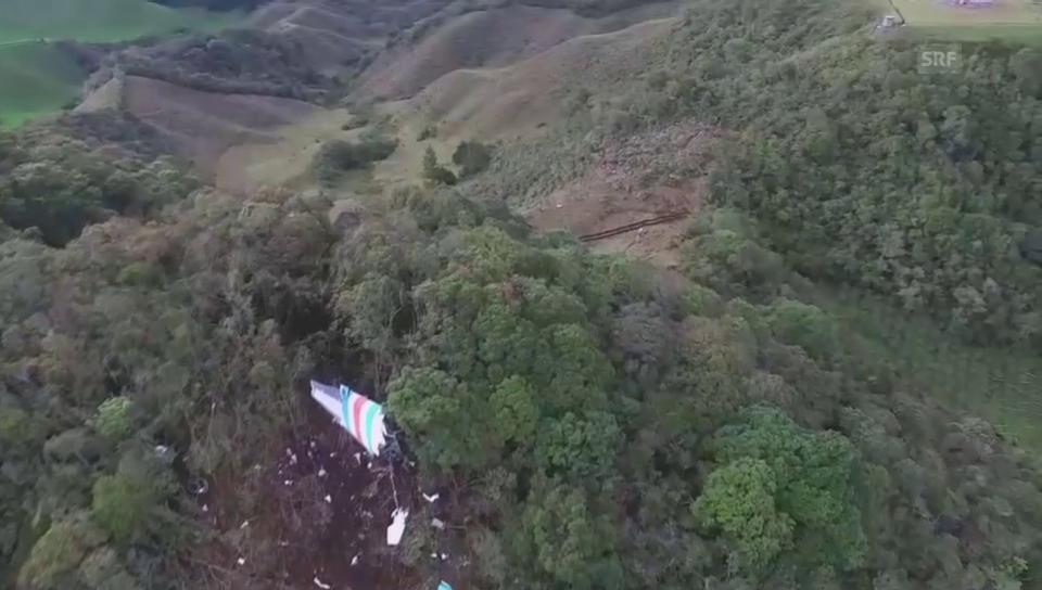 Luftaufnahmen der Absturzstelle (ohne Ton)