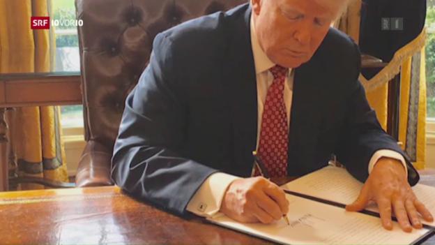 Video «Trump erlässt erneut Einreisesperre» abspielen